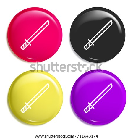 katana multi color glossy badge