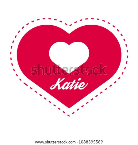 katie woman name with heart