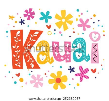 kauai vector lettering