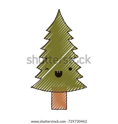 kawaii christmas pine with