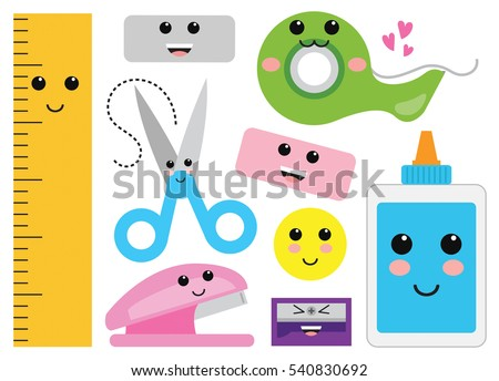 Kawaii Cute Happy Miscellaneous School Supplies