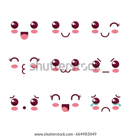 Kawaii faces design