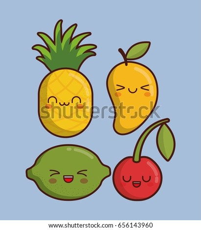 kawaii fruit icon