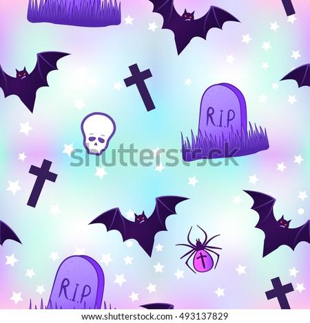kawaii funny spooky seamless