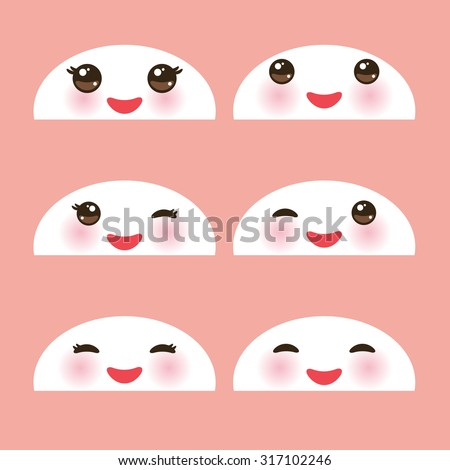 kawaii funny white muzzle with
