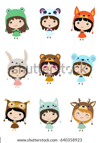kawaii little girls cute emoji