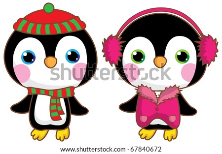 Kawaii penguins.