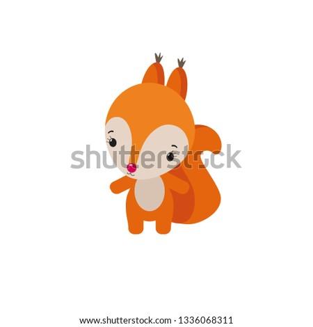 kawaii squirrel animal doodle