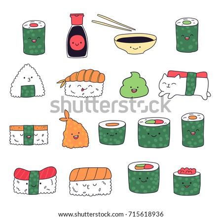 kawaii sushi food