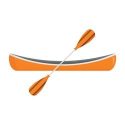 Kayak boat icon. Flat illustration of kayak boat vector icon for web design