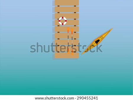 kayak in dock