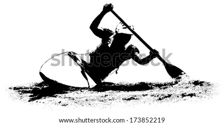Kayak on a white background