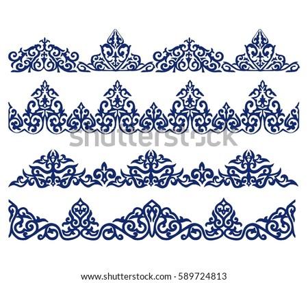 Kazakh ornament line
