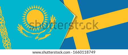 kazakhstan and sweden flags