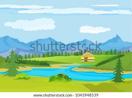 kazakhstan countryside  farm