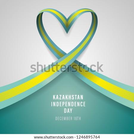 Kazakhstan Independence Day Vector Template Design Illustration