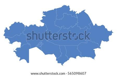 Kazakhstan map blue color