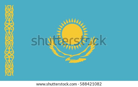 Kazakhstan vector flag page symbol for your web site design Kazakhstan flag logo, app, UI. Kazakhstan flag Vector illustration, EPS10.