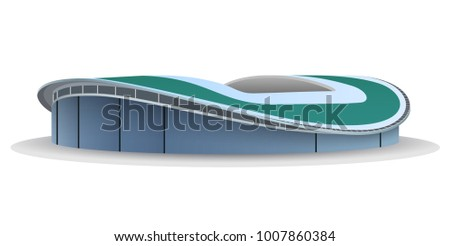 Kazan Arena football stadium. Vector illustration isolated on white background.