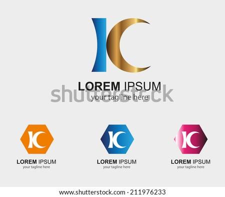 Kc letter logo symbol - K letter   Stok fotoğraf ©