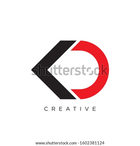 kd initial logo design vector icon Stock fotó ©