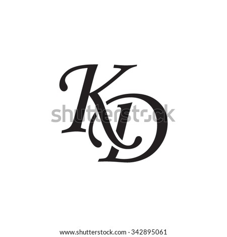 KD initial monogram logo Stock fotó ©