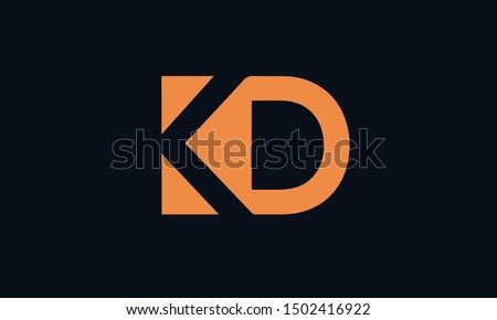 KD or DK and D or K abstract  monogram letter mark vector logo template Stock fotó ©
