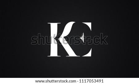 KE Letter Logo Design Template Vector Stok fotoğraf ©