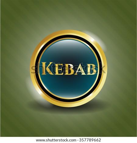 Kebab gold emblem