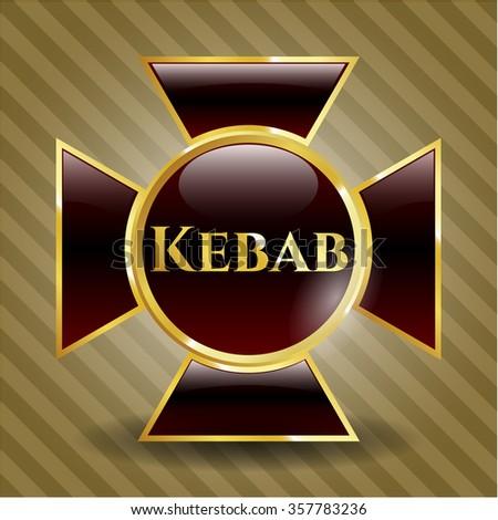 Kebab gold shiny badge