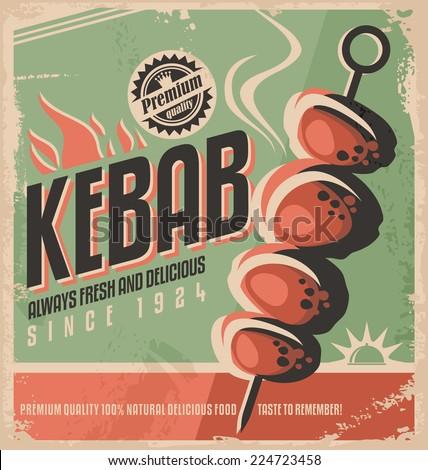 kebab retro poster design...
