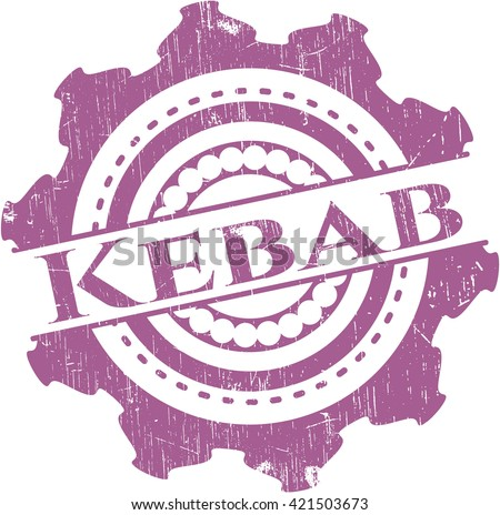 Kebab rubber grunge stamp