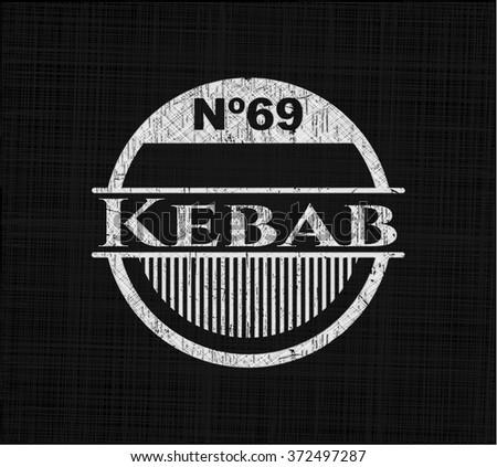 Kebab with chalkboard texture