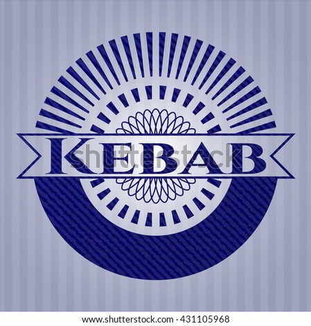 Kebab with jean texture
