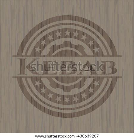 Kebab wood icon or emblem