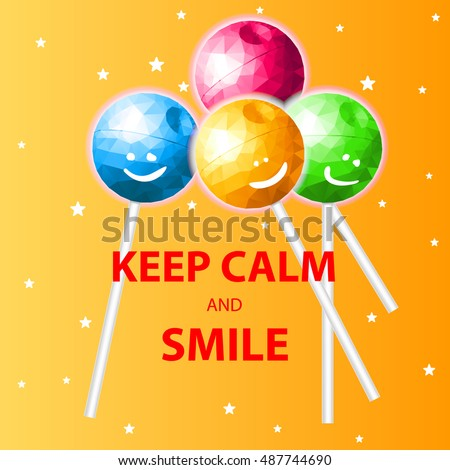 keep calm and smile  poster