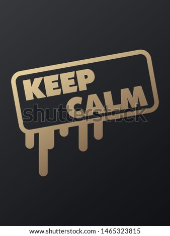Keep calm sticker.Keep calm square isolated sign.Keep calm.Vector design isolated on red background