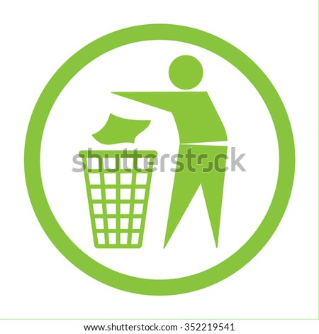 keep clean icon do not litter
