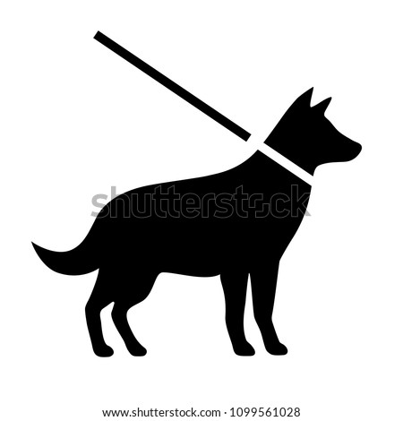 Keep dogs on leash vector sign isolated on white background