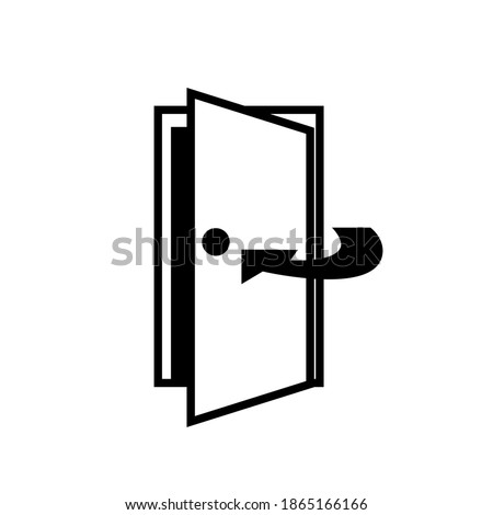 Keep Door Closed Black Icon,Vector Illustration, Isolated On White Background Label. EPS10 Photo stock ©