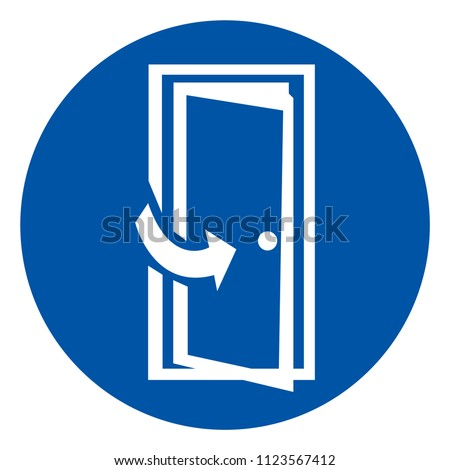 Keep Door Closed Symbols Sign, Vector Illustration, Isolate On White Background Icon .EPS10
