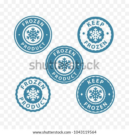 keep frozen, frozen food, frozen product packaging label stamp sticker symbols.