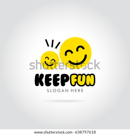 keep fun with smile emoticon