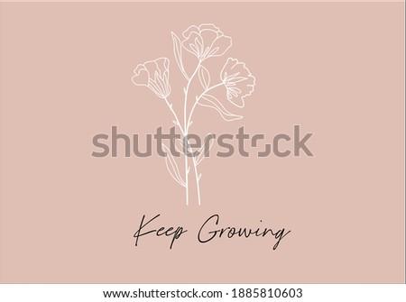 Keep growing message with flower positive quote flower design margarita mariposa stationery,mug,t shirt,phone case fashion slogan style spring summer sticker