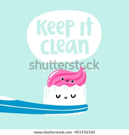Keep it clean vector card