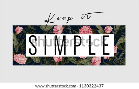 keep it simple slogan with tropical background