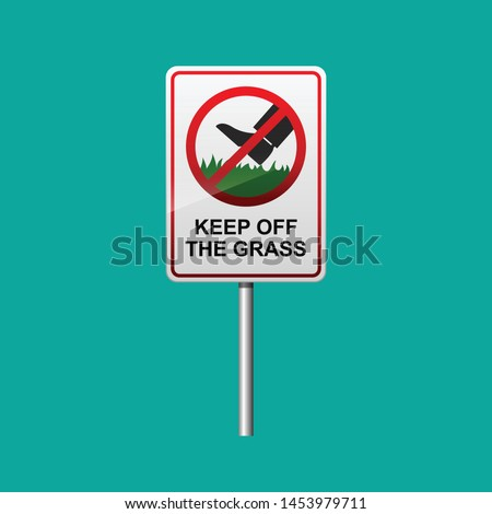 keep of the grass sign vector