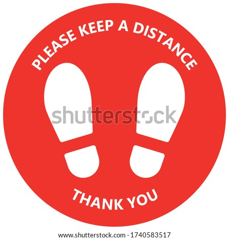 keep safe social distance floor
