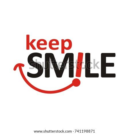 Keep Smile logo design template vector