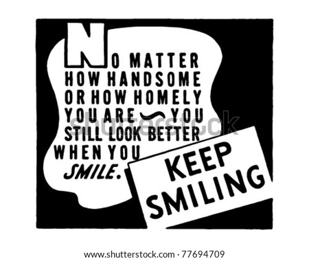 keep smiling 2   retro ad art